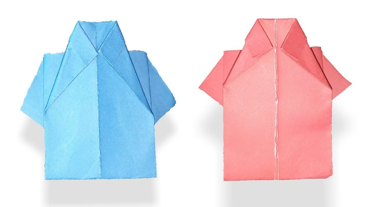 How to make a DIY origami paper shirt step by step - YouTube | 720x1280